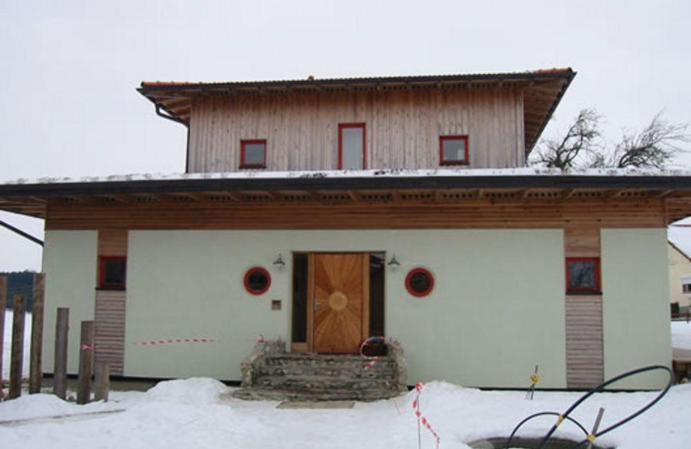 Einfamilienhaus mit Strohdämmung