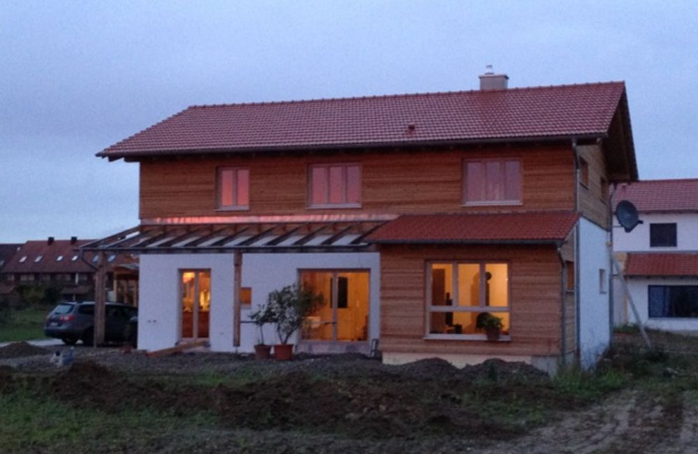 Neubau im Massivholzbauweise Nähe Regensburg