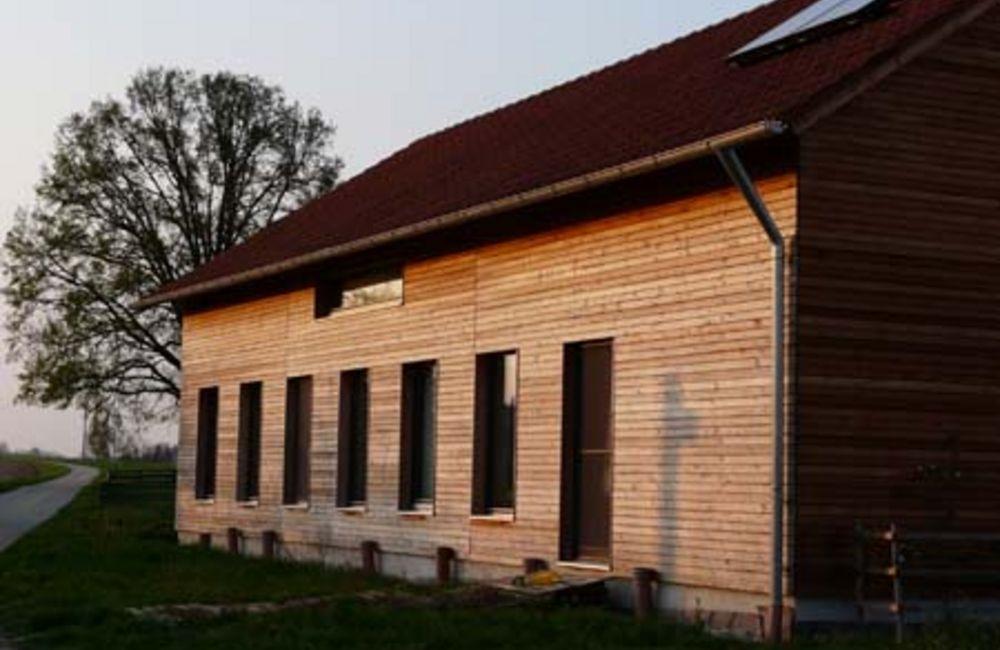 Passivhaus in Holzständerbauweise
