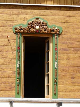 Tür zum Balkon / Schrot