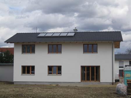 Fassade mit Kalkputz und Silikatfarbe