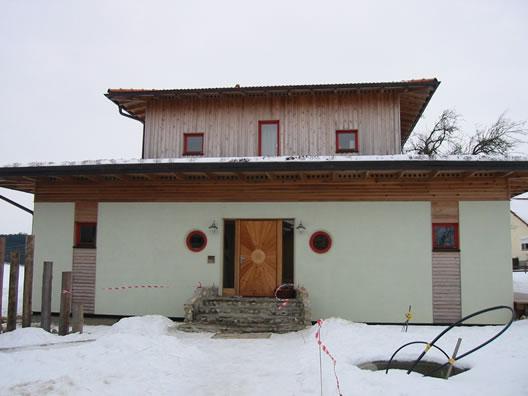 Einfamilienhaus Strohdämmung